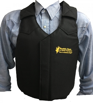 Black Cordura Pro Rodeo Protective Vest - Youth