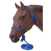 Poly Rope Tied Halter w/ Lead
