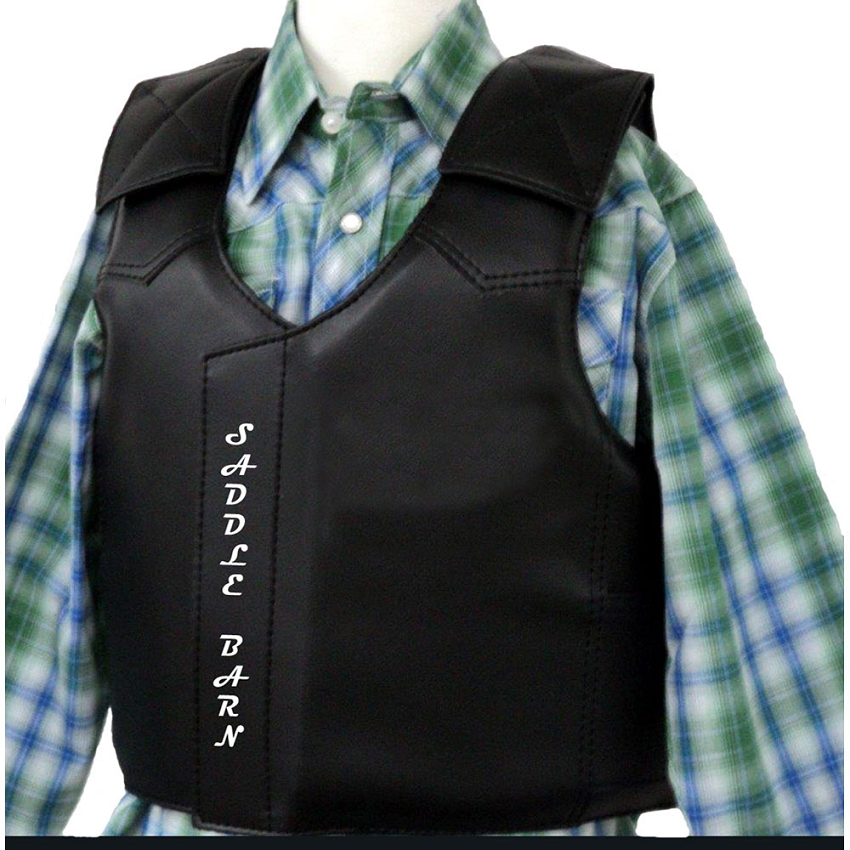 Faux Leather Junior Protective Vest Steer Riding By Rodeo Hard