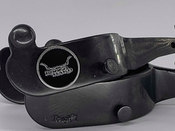 Rodeo Hard Black Bull/Bareback Combination Spurs 22 1/2