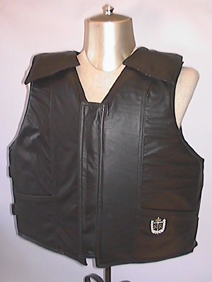 Leather Bull Rider Vest By Ride Right Protective Vests