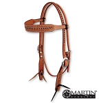 Roughout Leather Browband