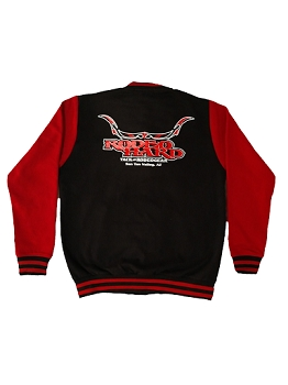 Rodeo Hard Red and Black Hoodie Jacket