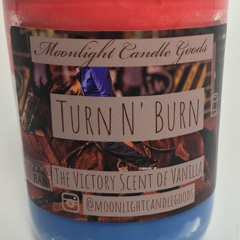 Turn N' Burn Handmade Soy Candle 8 oz Jar