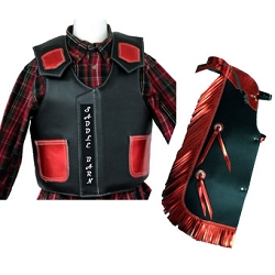 Junior Rodeo Chap/Vest Combo Faux Leather