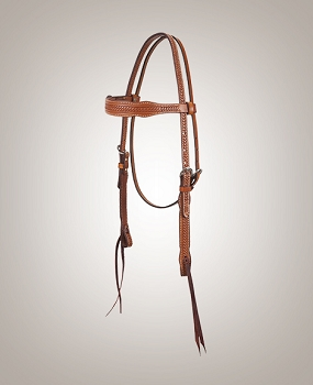 Chestnut Braid Border Browband