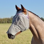 Crusader Fly Mask Long Nose - Pink