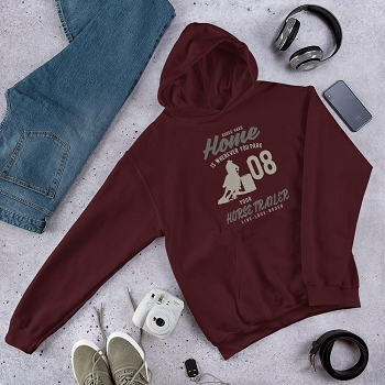 Rodeo Hard Home is Where You Park Your Trailer Hooded Sweatshirt