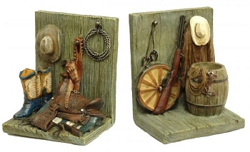 Montana West ® Cowboy motif bookends