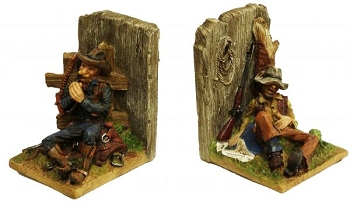 Montana West ® Resting cowboy book ends
