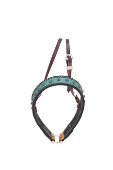 Teal Elephant Noseband w/ Copper Bullets