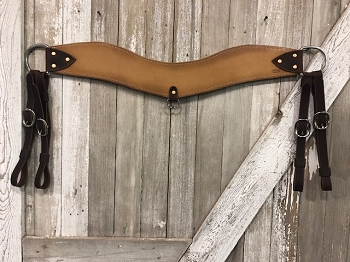 British Tan Steer Roper Breast Collar
