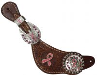 Ladies Pink Ribbon Spur Straps.