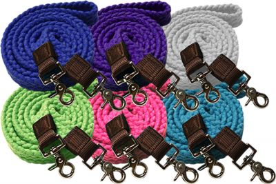 Cotton roping reins with scissor snap ends