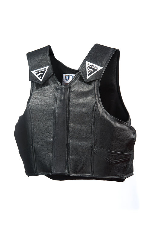 Youth Phoenix Pro-Max Rodeo Vest - Leather