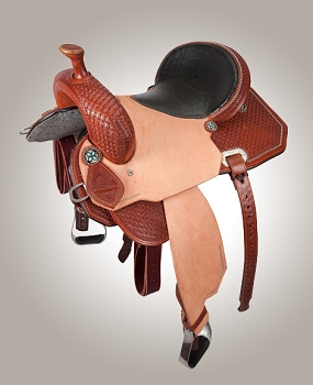 1/2 Stamped Cactus Barrel Racer Saddle