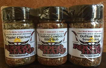 Naked Cowboy BBQ Rub, Flippin Chicken & Outlaw Steak Seasoning - 3 pk