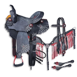 Black Widow Collection 5 Piece Saddle Package