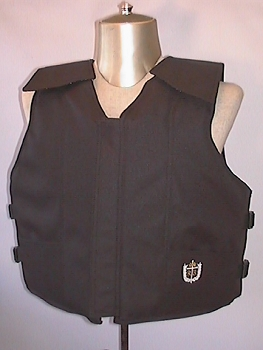 Black Polyduck Youth Bull Rider Vest