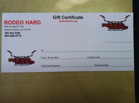 Rodeo Hard Gift Card